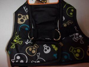 Multi Skulls Harness Vest Dog XS New Pet No Choke free Xsmall step-in