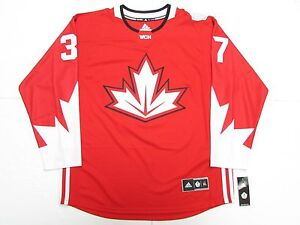 PATRICE BERGERON TEAM CANADA RED WORLD CUP OF HOCKEY ADIDAS JERSEY SIZE XL