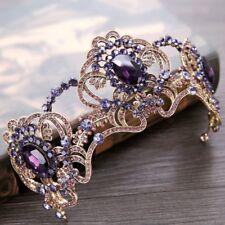 Vintage Bridal Wedding Rhinestone Queen Crown Headband Tiara Hair Accessories