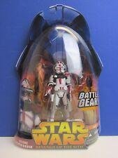 RARE Star Wars Clone Commander BATTAGLIA Gear Action Figure La vendetta dei Sith marcisce 06 A