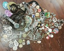 Mixed Job Lot / Collection Vintage Medals Badges St Christopher Pips Watches