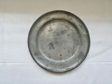 "Edward Danforth Pewter 8"" Plate Fully Signed With Touch Marks Antique ~Rare~"