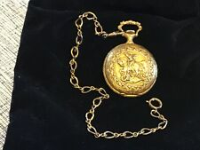 Caravelle pocket watch & chain