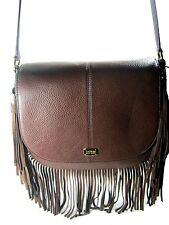 Lauren by Ralph Lauren Cobden Fringe Saddle Bag Brown