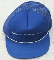 Barclay Dean Inc Blue & White Vintage Baseball Hat Adult Mens Snapback Polyester