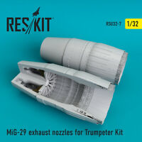MiG-29 exhaust nozzles for Trumpeter  (Resin Upgrade set) 1/32 ResKit RSU32-0007