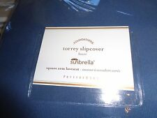 Pottery Barn Sunbrella Square Arm Torrey loveseat sapphire blue slipcover New