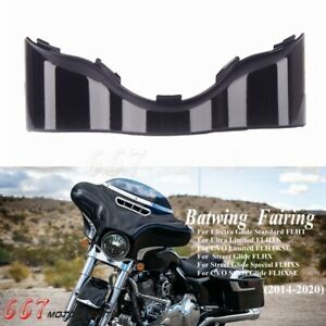 For Harley Touring Electra Street Glide Batwing Lower Trim Skirt Fairing Black