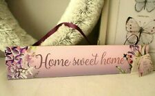 Home Sweet Home Floral Wooden Hanging Sign - New