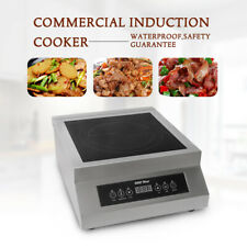 5000W Commercial Induction Cooktop Electric Cooker 0-180 Min Timer 220V CE