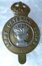 Badge- VINTAGE Royal Army Catering Corps Cap Badge with Slider maker Buttons Ltd