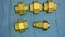 plumbing brass union 1/2 inch NPT pipe 5 pack lot
