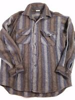 Woolrich Men's Rugged Outdoorwear Button Front Wool Plaid Shirt Size unknown A13