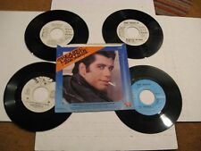 John Travolta/ Lot of five 45s/ Canada/ WLP Promo/ Picture Sleeve