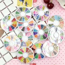 3D Wheel Cartoon Nail Art Stickers Fimo Polymer Acrylic Slices DIY Decoration