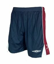Mens XL UMBRO Evo X Football Shorts Navy Red Training Gym Running Polyester