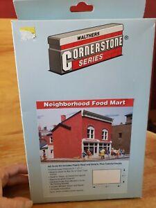 Walthers 933-3033 Neighborhood Food Mart HO Scale Kit NEW