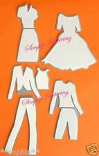 NEW  ✿ Quickutz Fashion Outfits For Doll Die ✿ 8 Dies For Cuttlebug Sizzix RARE
