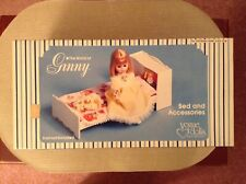 Vintage Ginny Doll Furniture - Nrfb Vogue - Bed And Accessories - 1978