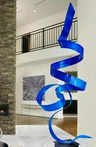 Metal Garden Sculpture  ELECTRIC BLUE  Indoor/Outdoor Art   Original  Jon Allen