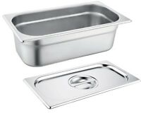 Zodiac Gastronorm 1/3 150MM / 6 Litre Deep Stainless Steel Container & Lids