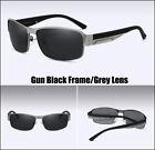 Classic Metal Frame HD Polarized Lens Sunglasses Mens UV Sports Driving Glasses