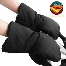 Black Waterproof Pram Stroller Pushchair Hand Gloves Winter Thickened Warm Muff