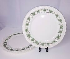 "(3) Vintage Royal Gadroon Harker Pottery Ivy 10.25"" Dinner Plates"