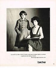 PUBLICITE ADVERTISING 035  1977  BERCHER   vetements manteaux enfants
