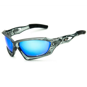 Daisan Sonnenbrille Sportbrille blaue Scheiben vollverspiegelt