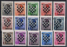 Kroatien ** MiNr 9 - 23 Aufdruckmarken Unabhängiger Staat Kroatien