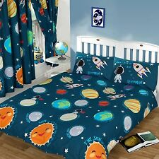 SOLAR SYSTEM DOUBLE DUVET COVER SET SPACEMAN NEW SPACE BEDDING