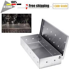 Räucherbox Edelstahl Grill BBQ Smoker Box Grillzubehör Gasgrill KüchengrillAußen