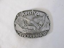 Kershaw Izee Oregon Officer Ranch Commemorative Belt Buckle Pewter #27628