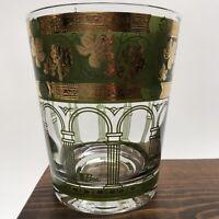 Set Of 8 Vintage Cera 12-oz. Tumblers Green Golden Grapes Greek Columns MCM