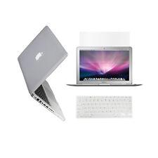 "3 in 1 Rubberized CLEAR Case for Macbook PRO 15"" + Keyboard Cover + LCD Screen"