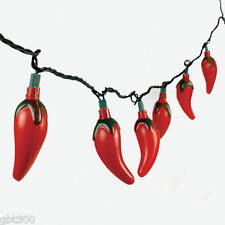 4 Sets Red Chili Pepper String Lights Fiesta Party Decor Patio Strand rv camper