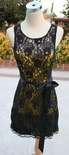NWT MASQUERADE $100 Black / Gold Cocktail Prom Dress 7