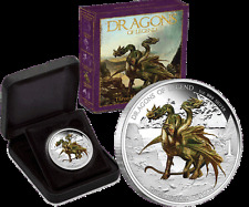 2012 $1 Dragons of Legend Bulgarian Three-headed Dragon 1oz Silver Proof Coin
