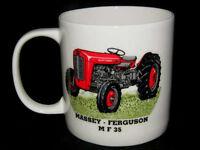 Massey Ferguson MF35 Large Bone China Mug, Red Massey Ferguson Vintage Tractor