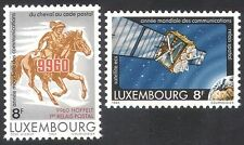Luxembourg 1983 Horse/Space/Satellite/Communications/Post/Telecomms 2v (n39829)