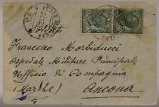 POSTA MILITARE 70 BUSTA AFFRANCATA 24.12.1918 FRANCOBOLLI 5 c. #XP412E