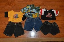 BUILD-A-BEAR Lot of 6- 3 Jean Short Sets with Tops Clothes