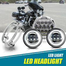 "7"" LED Daymaker Headlight Kit For Yamaha V-Star XVS 650 1100 Classic Silverado"