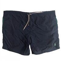 Vintage Nautica 90s Swim Trunks Solid Navy Blue Beach Summer Vacation Shorts XL