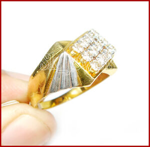 1.22CT NATURAL ROUND DIAMOND 14K SOLID YELLOW GOLD WEDDING ENGAGEMENT RING