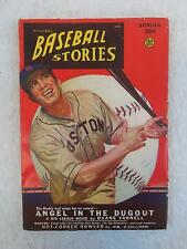 Vintage BASEBALL STORIES Fact and Fiction Magazine Spring 1948-49 Vol. 2, No. 11