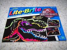 LITE BRITE Jurassic Park III PICTURE REFILL Only 11 Pictures Light-Up Pictures
