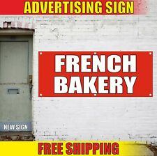 French Bakery Banner Advertising Vinyl Sign Flag Croissants Baguettes Coffee Hot