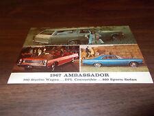 1967 AMC Ambassador  Vintage Advertising Postcard